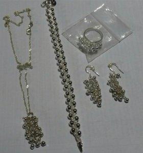 Набор украшений стерлинговое серебро