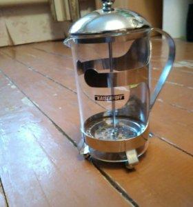 Заварочный чайник с прессом для чая и кофе