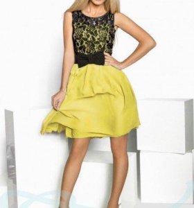 Шифоновое мини-платье ( новое)