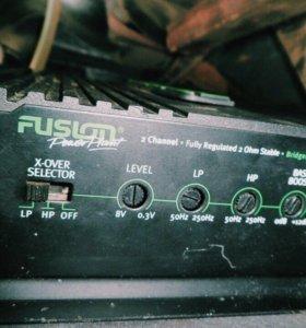 Сабвуфер Fushion fle-12+усилитель Fushion FP-802