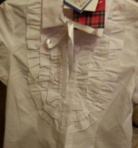 Школьные новые блузы для девочки 134-140