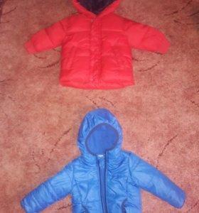 Куртки зима и весна на мальчика 1-1.5 года
