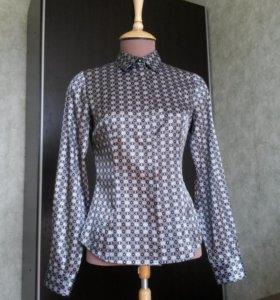 Блузка рубашка классическая  атласная Остин O*stin