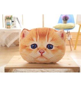 подушки мордочки котят