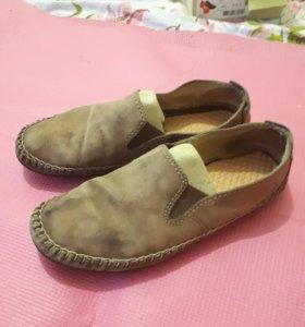 Мужские туфли нат замша