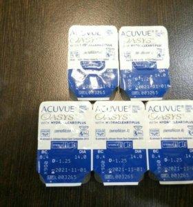 Линзы Acuvue Oasis D -1,25