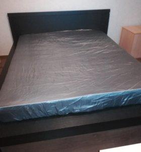 Кровать двуспальная Бронь до21. 02