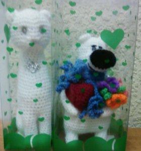 Подарок ручной работы (вязаные игрушки)