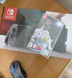 Приставка Nintendo Switch + игра FIFA 18