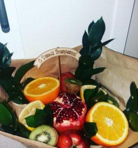 Букеты из фруктов!!!на заказ!!от 900рублей!!