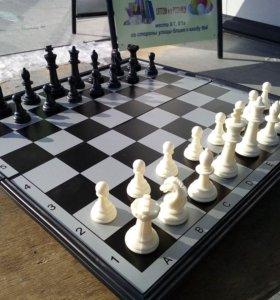 Шахматы, шашки, нарды магнитные 3в1
