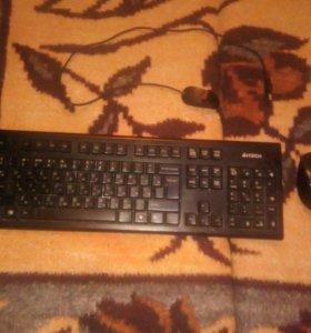 Беспроводная клавиатура и мышь,проводная мышь