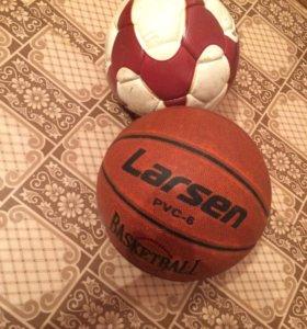 Мячи ( баскетбольный и футбольный)