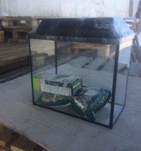 аквариум + крышка новый
