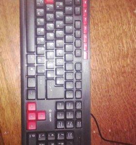 Мышка JA-игровая,клавиатура DEXP K-2002BU