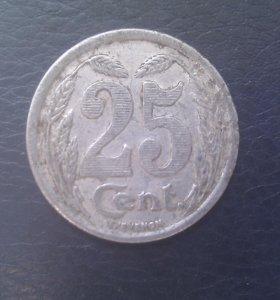 Франция нотгельд Эро 25 сантимов 1921 год!