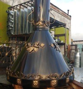 Кованый вытяжной Зонт для тандыра