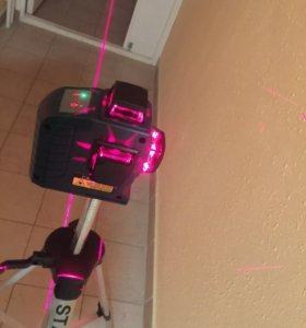 Лазерный уровень STAND, 12 линий,3*360 градусов!
