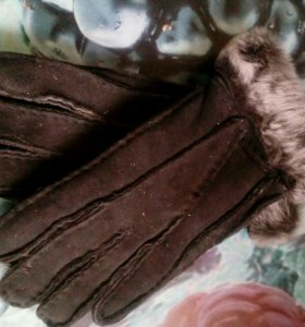 Перчатки теплые с мехом