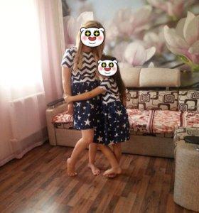 Платье мама+дочка