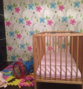 Кроватка детская и матрас IKEA