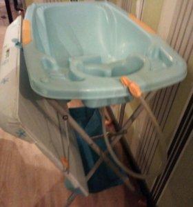 Ванночка , подставка, пеленальный стол 2в1