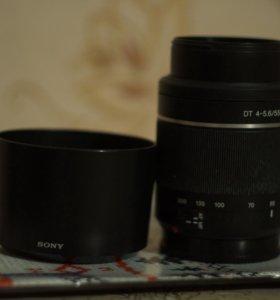 Объектив Sony SAM DT 4-5.6\ 55-200mm