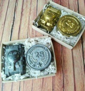Мыло ручной работы Танк и медаль