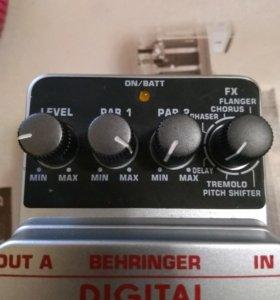 Behringer digital multi-fx дилей хорус тремоло