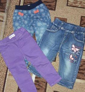 Джинсы,футболки, кофточки от 6 мес до 1 года