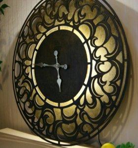 Большие интерьерные часы /светильник