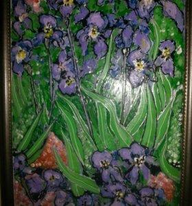 Картины акрил на стекле