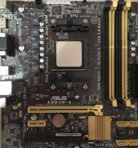 Материнка+проц (AMD 4ядра)