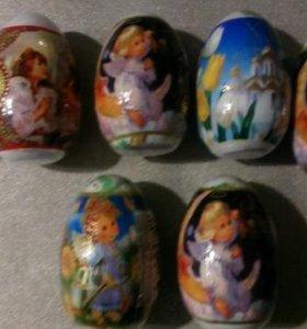 Полотенца прессованные-яйца и машины 8см