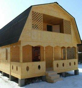 Строительство домов бань мансард