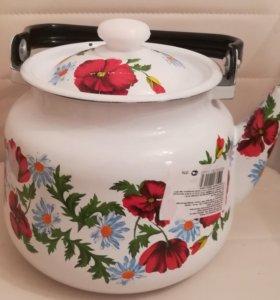 Шикарный новый эмаль чайник 3,6 литра