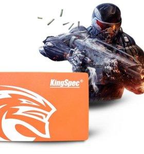 SSD 128 Gb KINGSPEC Жесткий диск SATA-3 2.5 дюймов
