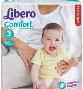 Памперсы (подгузники) Libero Comfort 3 (4-9кг)
