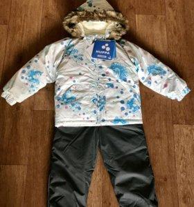 Новый комплект Huppa Avery 104 куртка и комбинезон