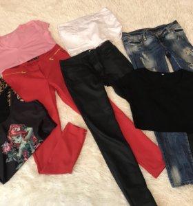 Пакет вещей: Брюки джинсы футболка