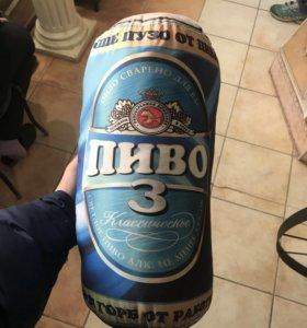 Плюшевая банка пива