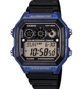 Часы CASIO AE-1300 Оригинал Спортивные Водонепрони