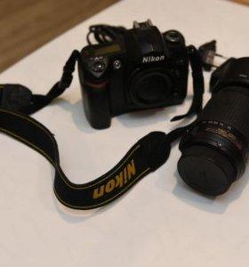 Камера D70s + объектив Nikon 55-200mm VR