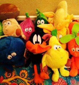 Новые игрушки фрукты-овощи с этикетками