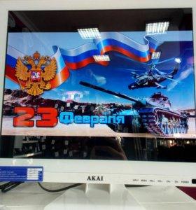 Новый телевизор akai (17 дюймов)