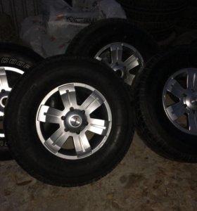 Комплект колес в сборе 275/70/r16 Pajero/L200