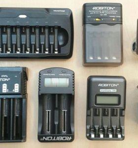 Зарядные устройства для AA, AAA, 9V, 18650...