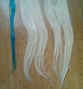 Волосы пряди на заколках