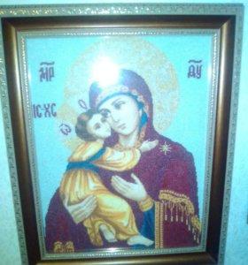 Икона вышитая крестиком
