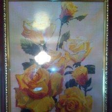 """Картина вышитая крестом """"Желтые розы"""""""
